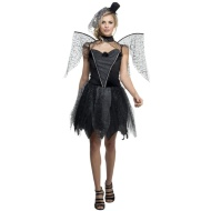Ladies Winged Halloween Outfit - Dark Raven