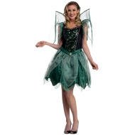 Ladies Winged Halloween Outfit - Green Fairy