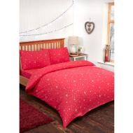 Stars Brushed Cotton Duvet Set - Double