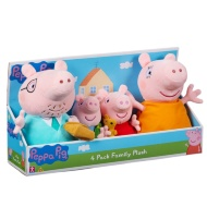 Peppa Pig Plush Family 4pk