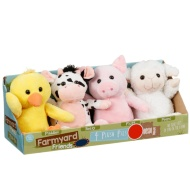 Plush Farm Yard Animals 4pk
