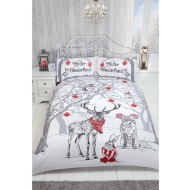 Metallic Stag Duvet Set - Double