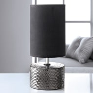 Denver Dimple Table Lamp - Black