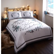 Winter Wonderland Stag Slogan Duvet Set - Double