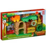 Jungle Zoo Play Set 20pc