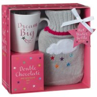 Hot Water Bottle & Hot Chocolate Gift Set - Dream Big