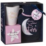Hot Water Bottle & Hot Chocolate Gift Set - Shine Bright