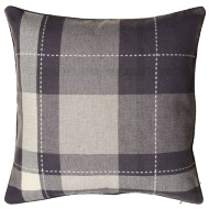 Tara Classic Woven Tartan Cushion - Grey