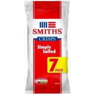 Smith's Ready Salted Crisps 7pk