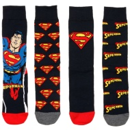 Mens Superman Socks 4pk