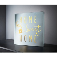 Square Mirror LED Slogan - Home Sweet Home