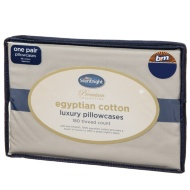 Silentnight Premium Collection Egyptian Cotton Luxury Pillowcase - Natural