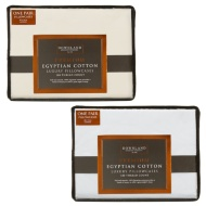 Downland Premium Egyptian Cotton Luxury Pillowcases 2pk