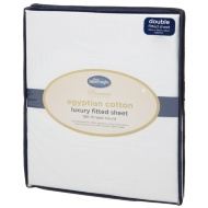 Silentnight Premium Collection Egyptian Cotton Double Fitted Sheet - White