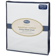 Silentnight Premium Collection Egyptian Cotton King Size Fitted Sheet - White