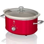 Swan Retro Slow Cooker 3.5L - Red