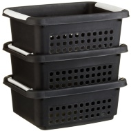 Stacking Baskets 3pk - Black