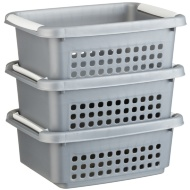 Stacking Baskets 3pk - Grey