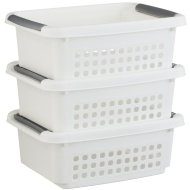 Stacking Baskets 3pk - White