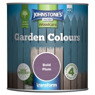 Johnstone's Paint Woodcare Garden Colours - Bold Plum 1L
