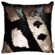 Reversible Sequin Cushion 48 x 48cm - Gold & Black