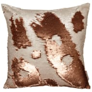 Reversible Sequin Cushion 48 x 48cm - Copper & Cream