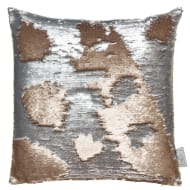 Reversible Sequin Cushion 48 x 48cm - Gold & Silver