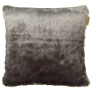 Ombre Faux Fur Cushion - Charcoal