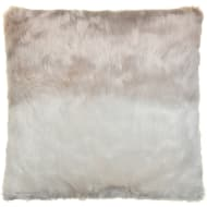 Ombre Faux Fur Cushion - Mink