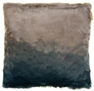 Ombre Faux Fur Cushion - Teal