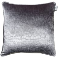 Croc Oversized Velvet Cushion - Silver