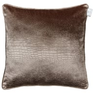 Croc Oversized Velvet Cushion - Mink
