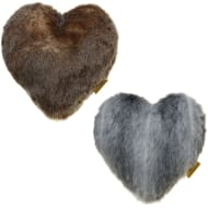 Double-Sided Faux Fur Heart Cushion