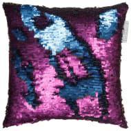 Reversible Sequin Cushion 30 x 30cm - Purple & Blue