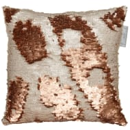 Reversible Sequin Cushion 30 x 30cm - Copper & Cream