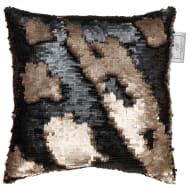 Reversible Sequin Cushion 30 x 30cm - Gold & Black