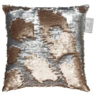 Reversible Sequin Cushion 30 x 30cm - Gold & Silver