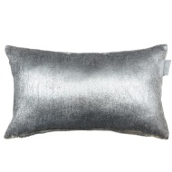 Metallic Velvet Cushion - Silver