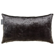 Metallic Velvet Cushion - Charcoal