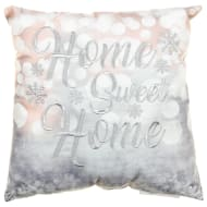 Embroidered Winter Cushion - Home Sweet Home