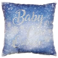 Embroidered Winter Cushion - Baby it's Cold Outside