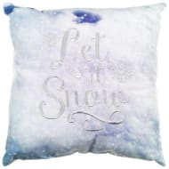 Embroidered Winter Cushion - Let it Snow