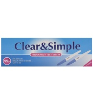Clear and Simple Pregnancy Test Sticks 2pk