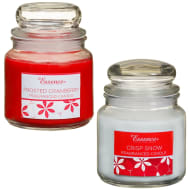 Essence Candle Jar Set 2pk - Frosted Cranberry & Crisp Snow