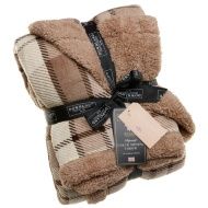 Check Sherpa Throw - Natural/Mink