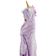 3D Hooded Unicorn Blanket - Lilac