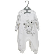 Baby Velour Sleepsuit 2pk - Grey