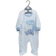 Baby Velour Sleepsuit 2pk - Blue