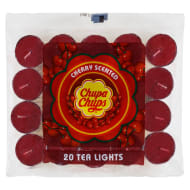 Chupa Chups Tea Lights 20pk - Cherry
