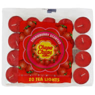 Chupa Chups Tea Lights 20pk - Strawberry